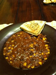 Black Bean Soup w/Pita Crisp
