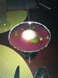 A spicy margarita